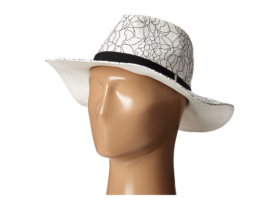BCBGMAXAZRIA - Lace Overlay Hat (White) Traditional Hats