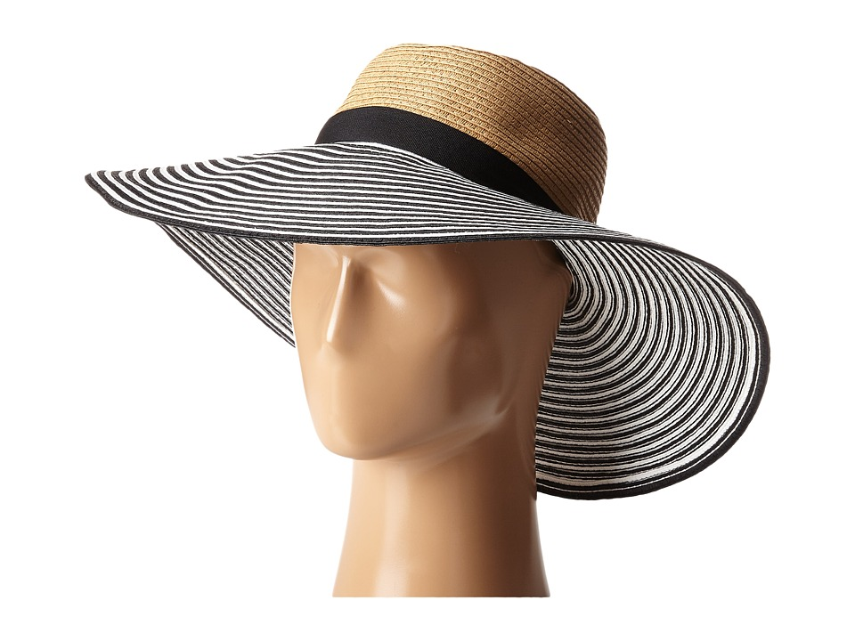 BCBGMAXAZRIA - Vintage Stripe Panama (Natural) Traditional Hats