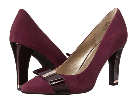Anne Klein - Thyra (Wine/Wine Suede) Women's 1-2 inch heel Shoes