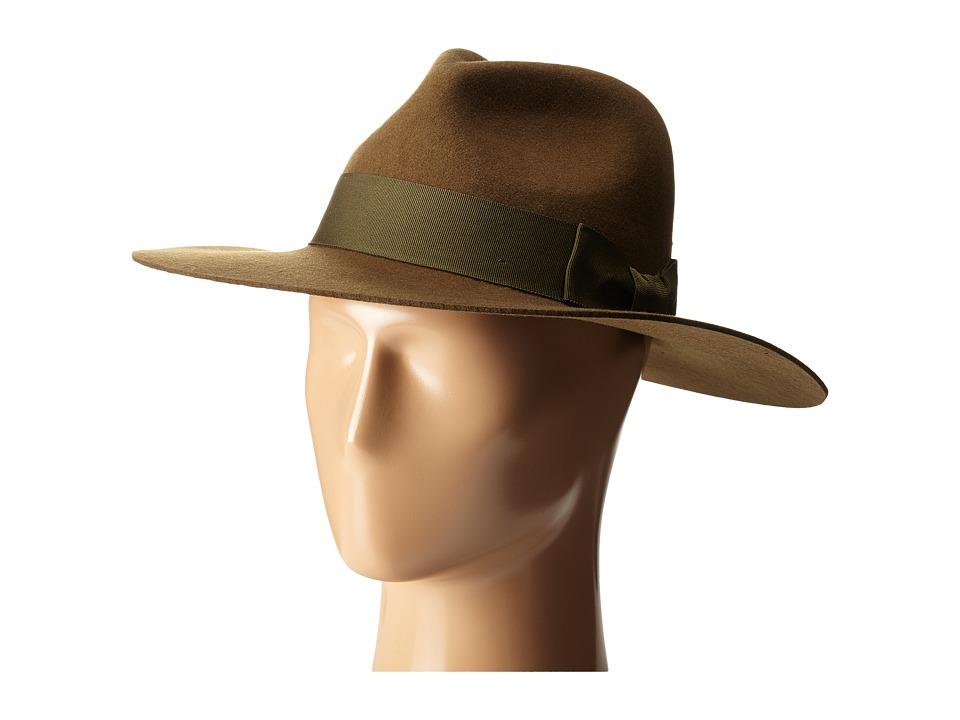 Brixton - Duvall Fedora (Olive) Fedora Hats