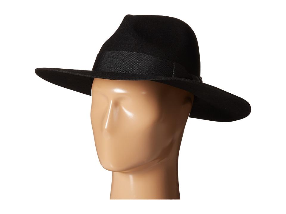 Brixton - Duvall Fedora (Black/Black) Fedora Hats