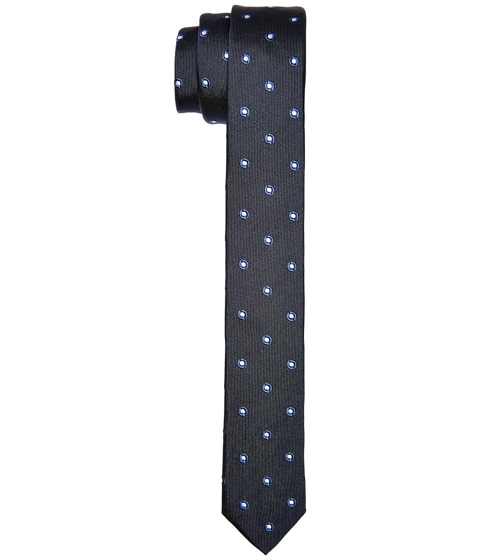 Dolce & Gabbana - Patterend Polka Dot Silk Narrow Tie (Navy/Ivory Polka Dot Print) Ties