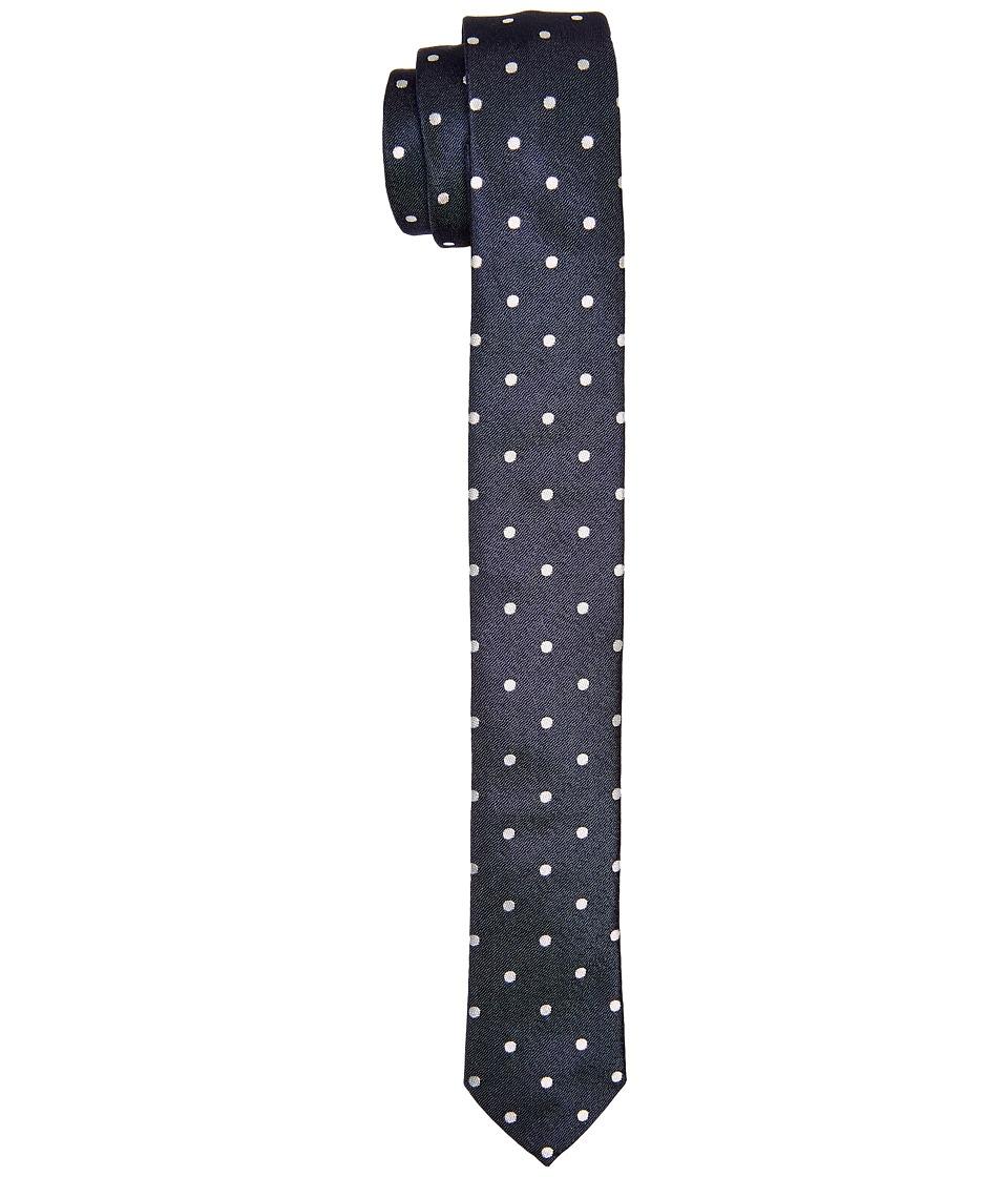 Dolce & Gabbana - Polka Dot Silk Tie (Navy/Ivory Polka Dot Print) Ties