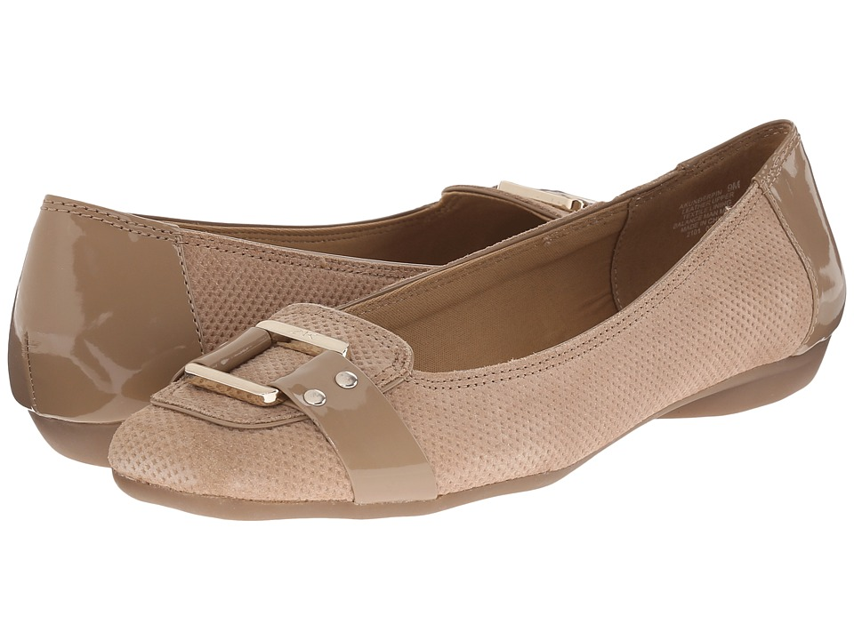 Anne Klein - Underpin (Natural/Natural Suede) Women's Flat Shoes
