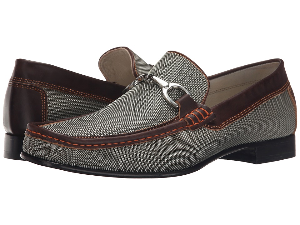 Donald J Pliner - Darrin (Khaki/Expresso) Men's Slip on Shoes