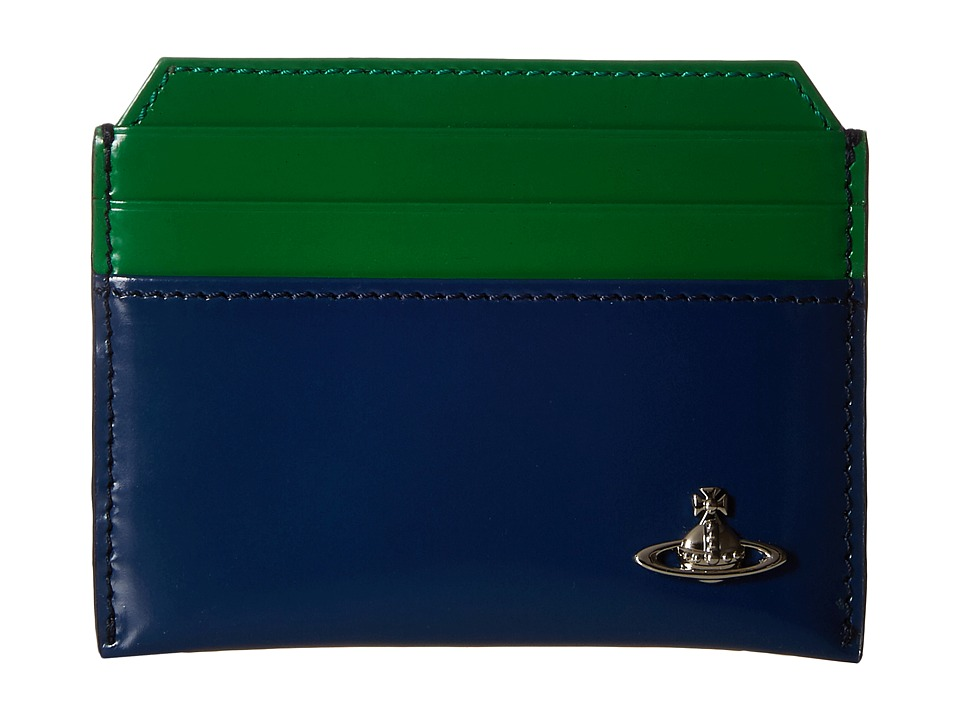 Vivienne Westwood - Bicolored Card Holder (Blue/Green) Credit card Wallet
