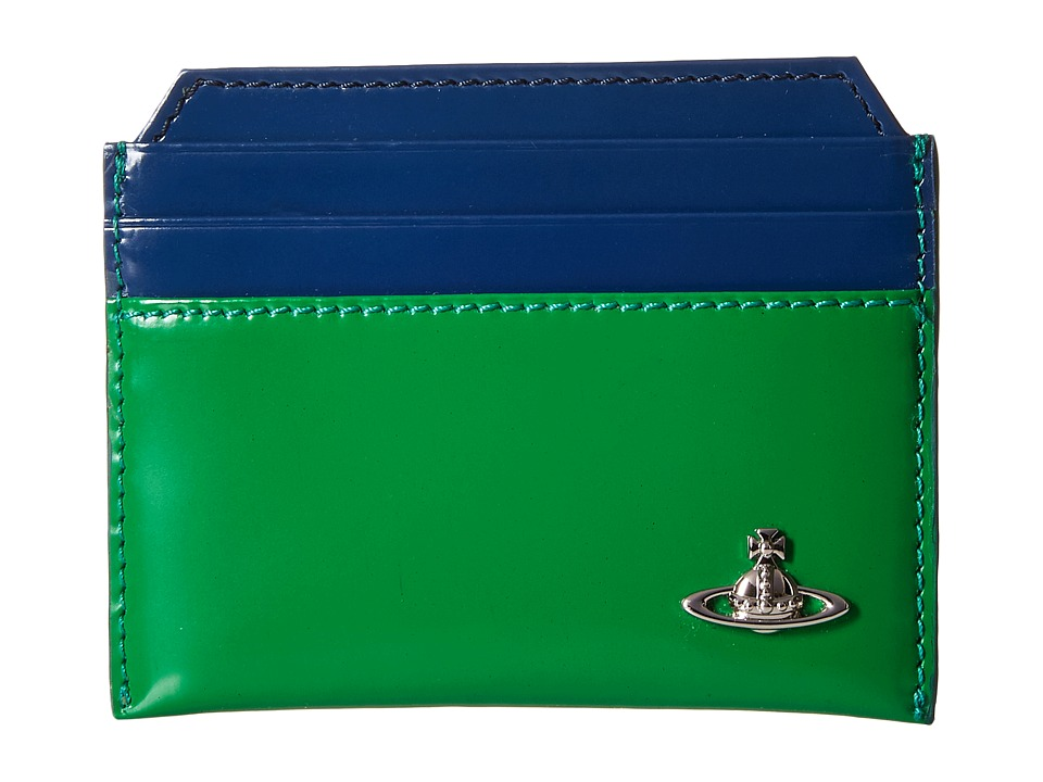 Vivienne Westwood - Bicolored Card Holder (Green/Blue) Credit card Wallet