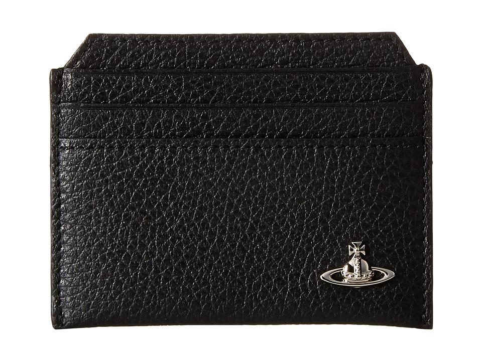 Vivienne Westwood - Leather Card Holder (Black) Credit card Wallet