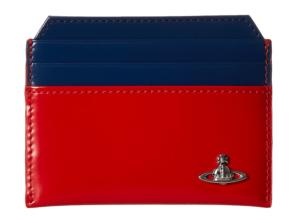 Vivienne Westwood - Bicolored Card Holder (Red/Blue) Credit card Wallet