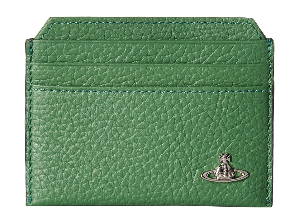 Vivienne Westwood - Leather Card Holder (Green) Credit card Wallet