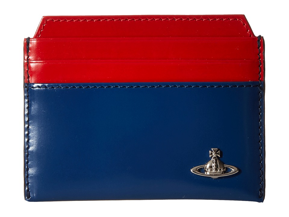 Vivienne Westwood - Bicolored Card Holder (Blue/Red) Credit card Wallet