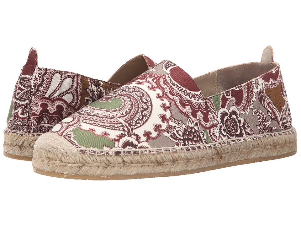 Etro - Paisley Espadrille (Burgundy Paisley) Men's Slip on Shoes