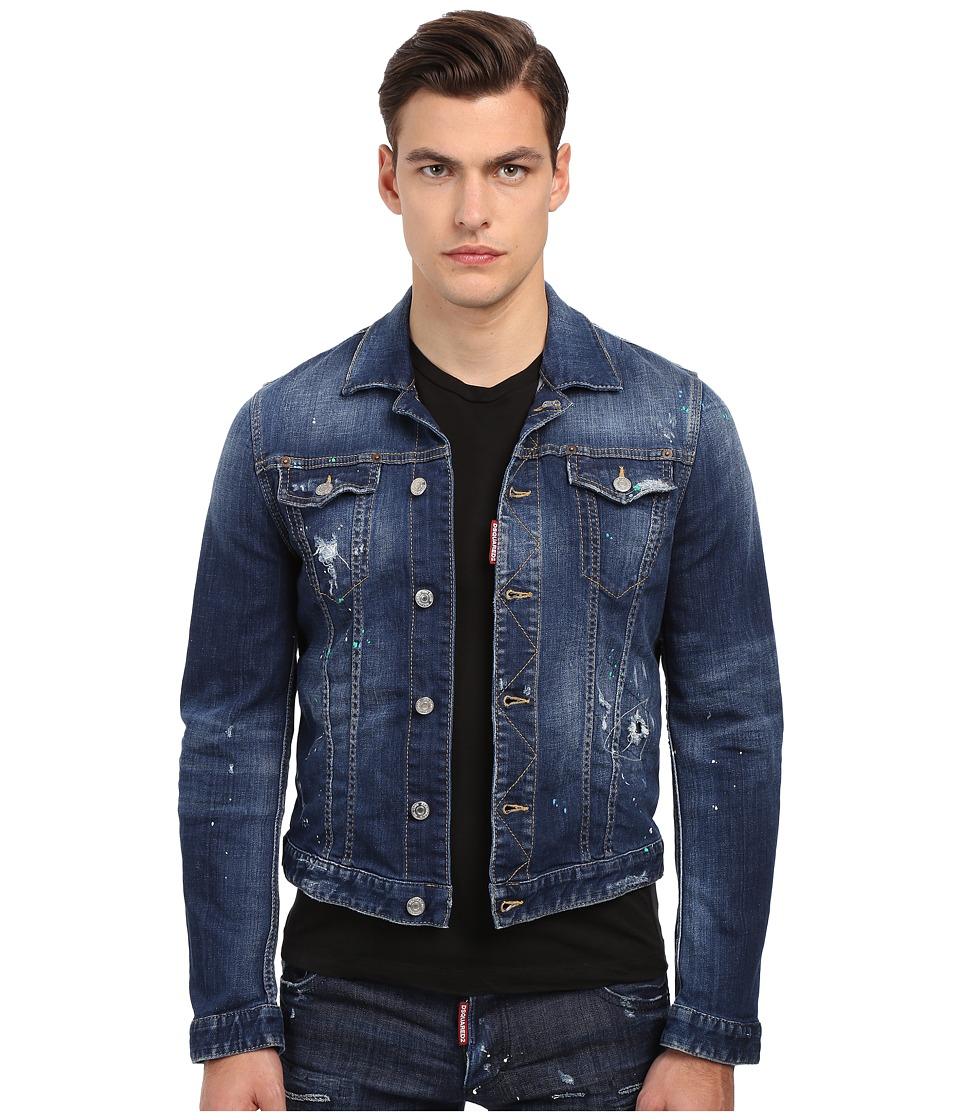DSQUARED2 - Bocca Chicca Jean Jacket (Blue) Men's Jacket