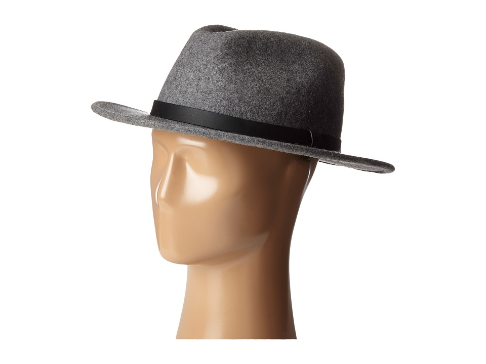 Brixton - Messer Fedora (Heather Grey) Fedora Hats