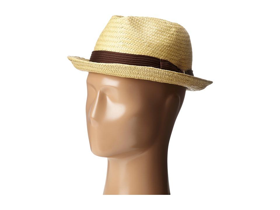 Brixton - Castor Fedora (Tan/Dark Brown) Traditional Hats