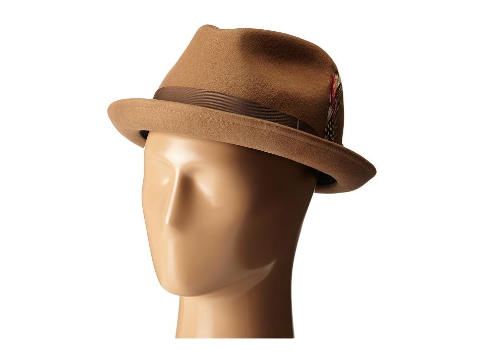 Brixton - Gain Fedora (Tan/Bronze) Fedora Hats