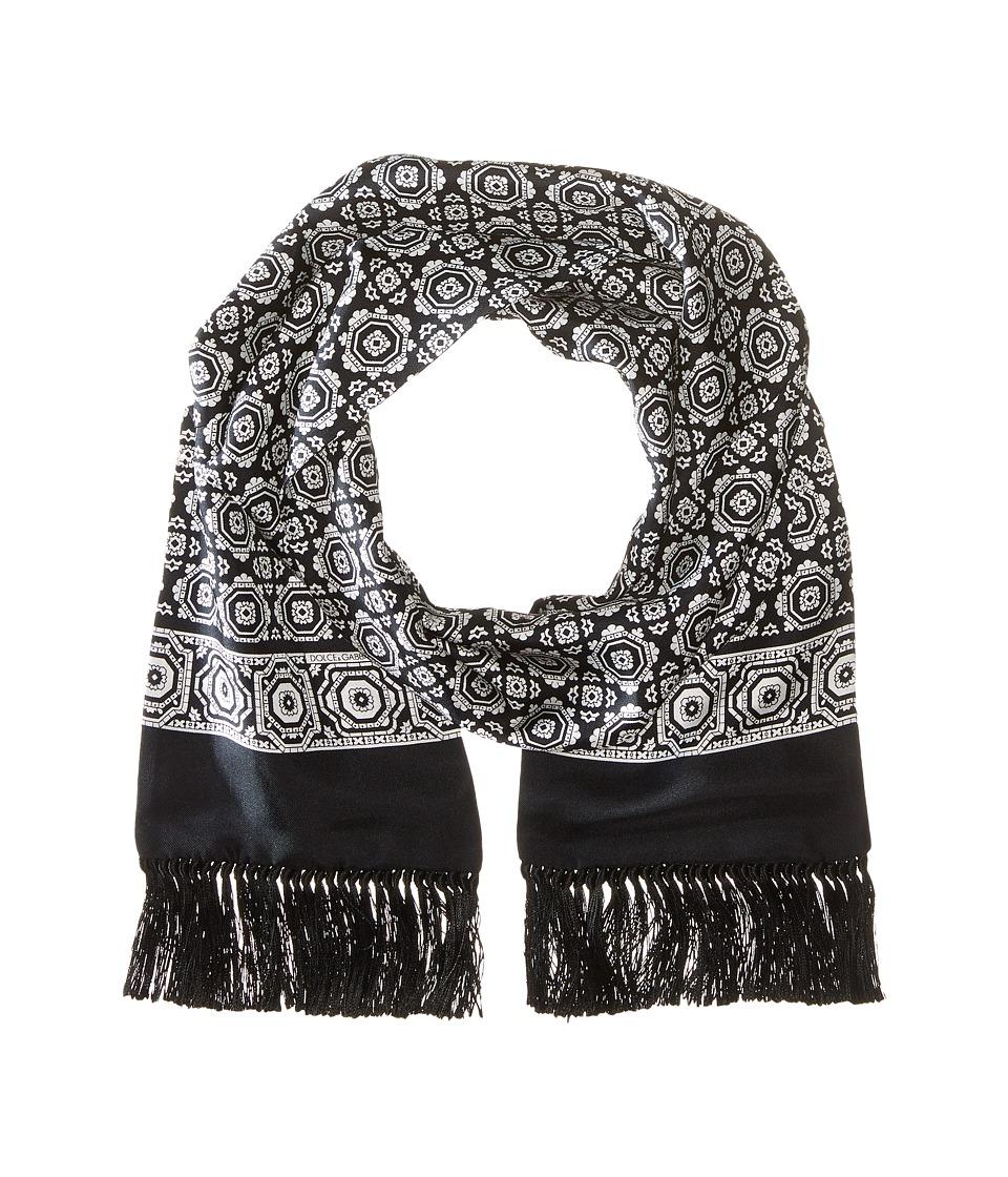 Dolce & Gabbana - GQ214EG0SMT (Black/Ivory Geo Print) Scarves