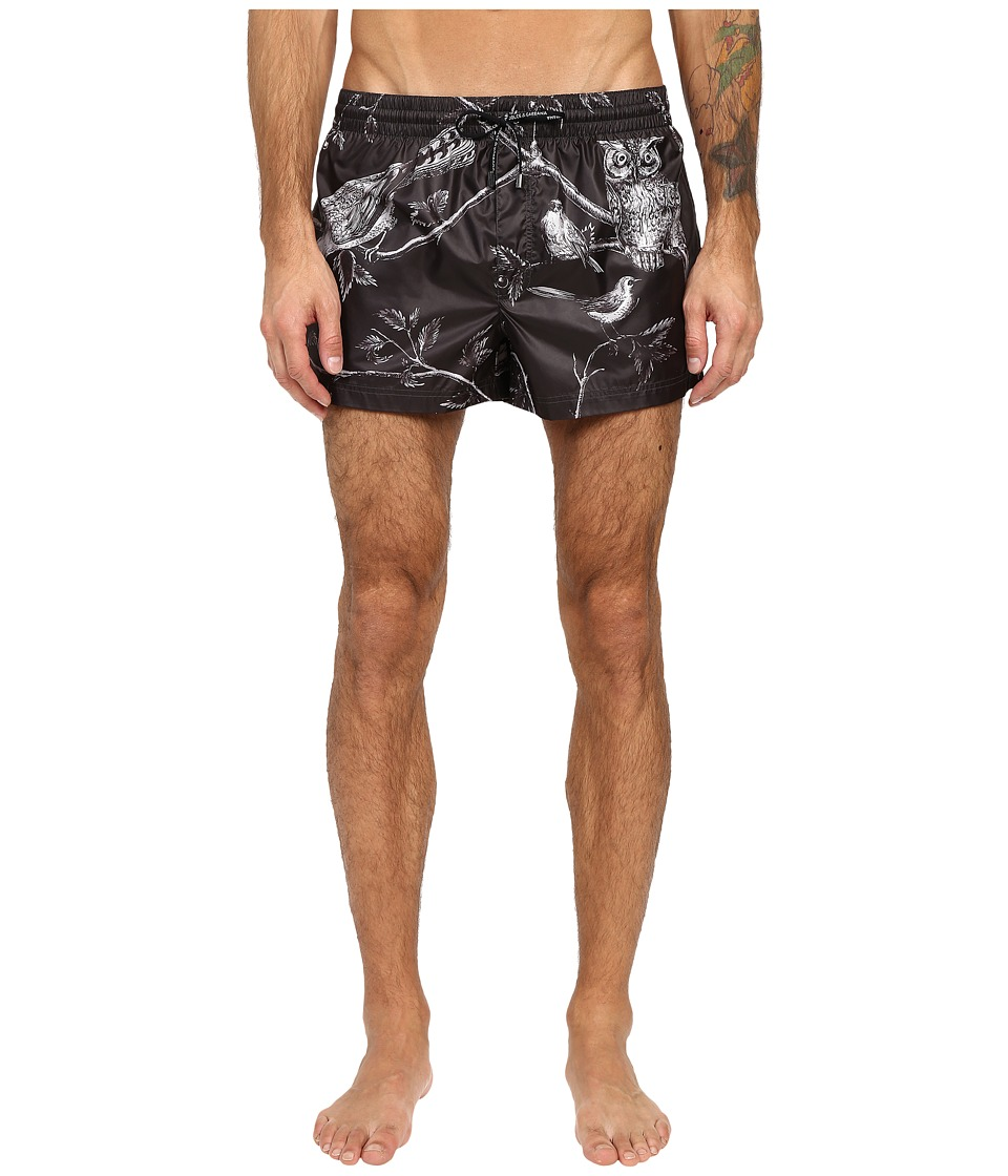 Dolce & Gabbana - Swim Shorts (Animal/Bird Print) Men's Swimwear