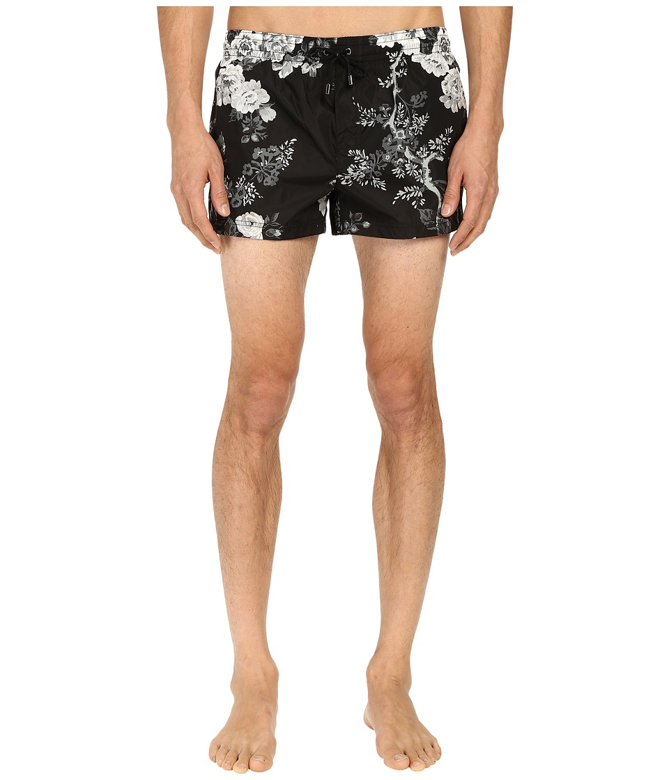 Dolce & Gabbana - Swim Shorts (Rose Print) Men's Swimwear