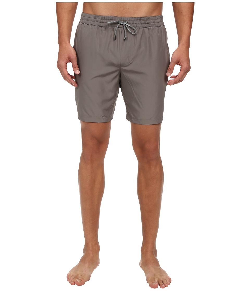 Dolce & Gabbana - Swim Trunk (Solid Silver/Grey) Men's Swimwear