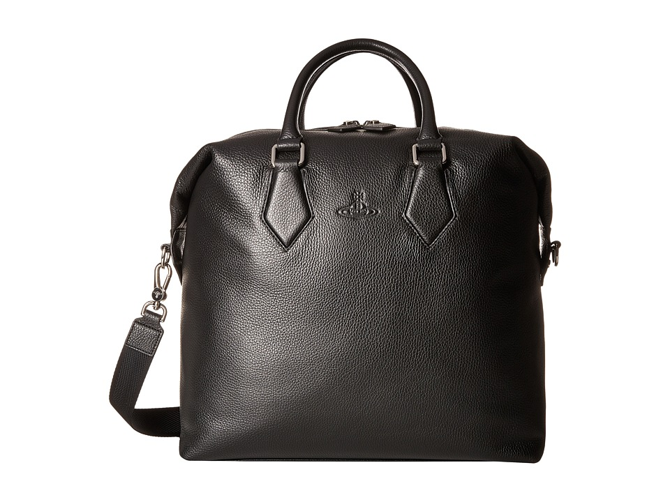 Vivienne Westwood - Leather Carryall (Black) Tote Handbags