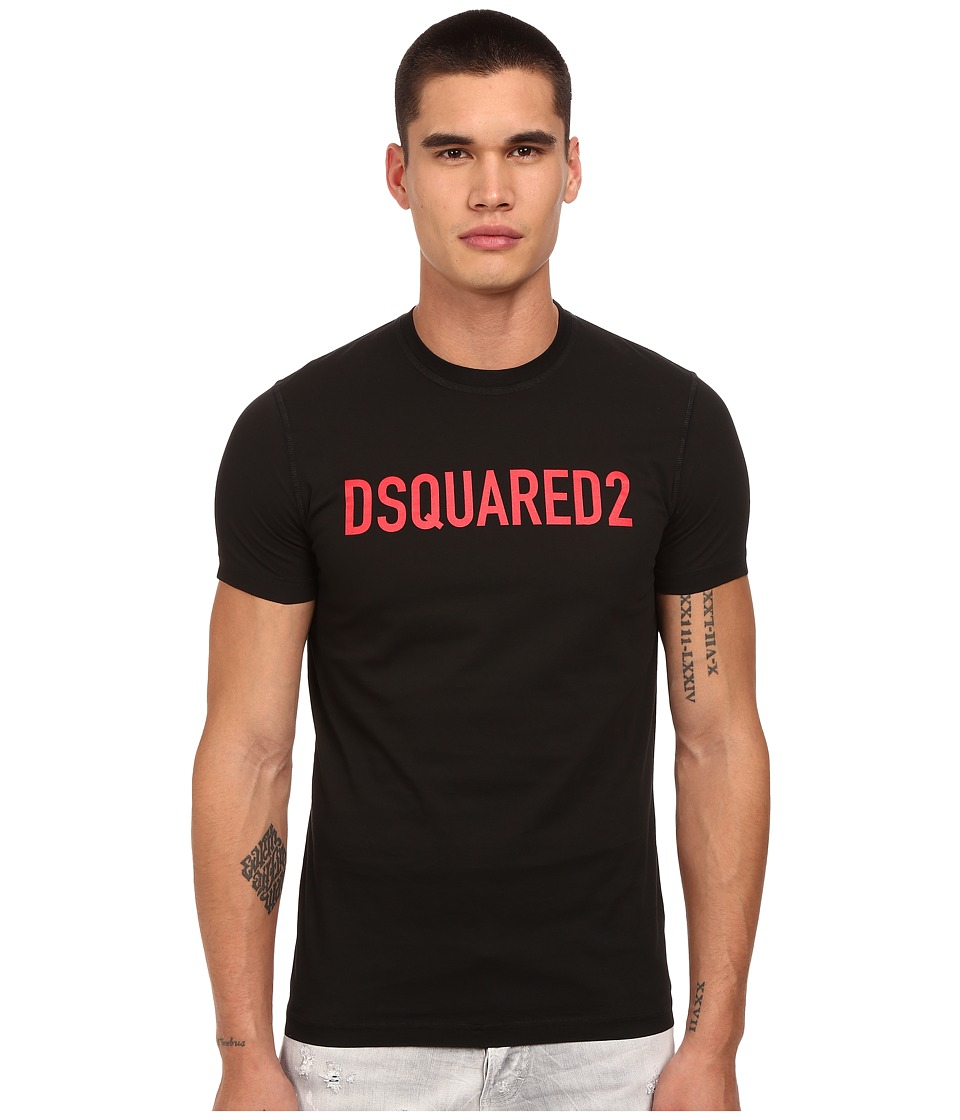 DSQUARED2 - Block Logo Classic Fit T-Shirt (Black) Men's T Shirt