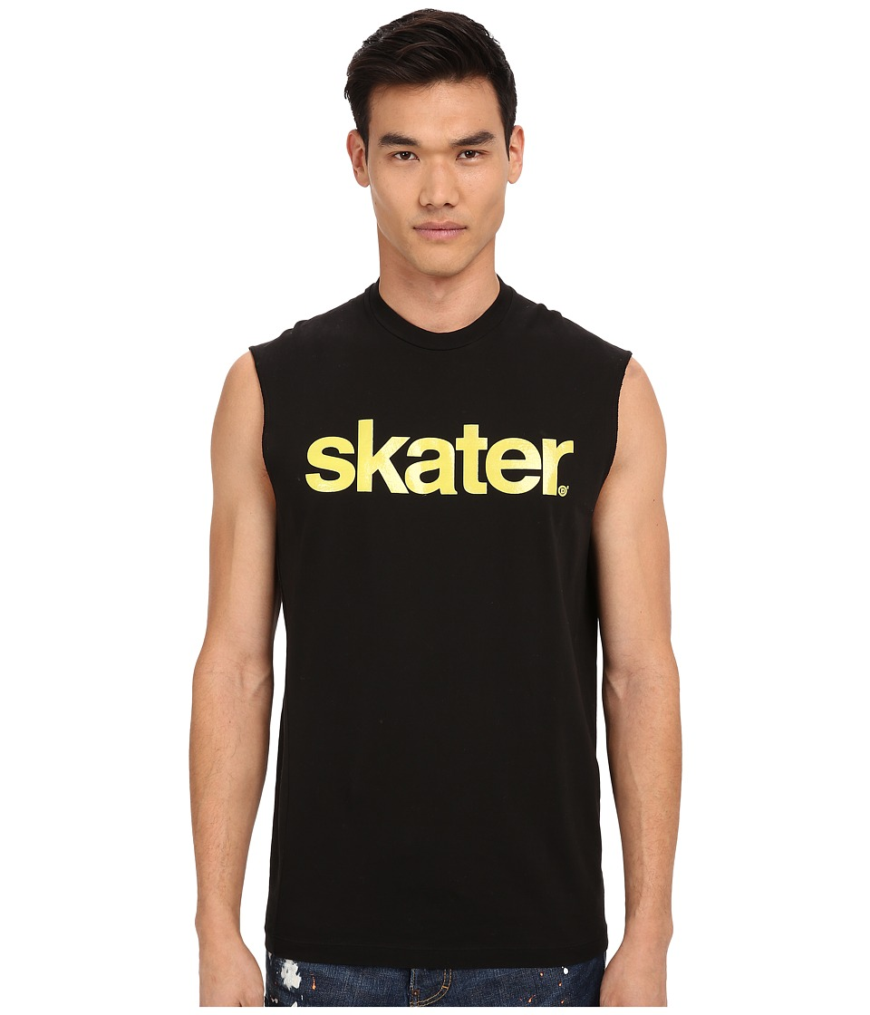 DSQUARED2 Skater Twisted Fit Muscle Tee (Black) Men