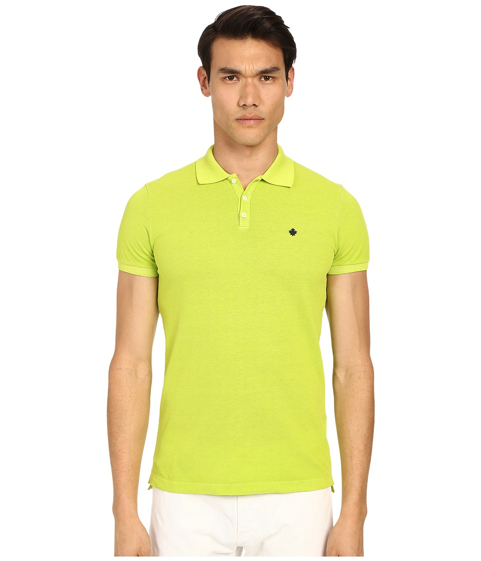 DSQUARED2 - Classic Fit Preppy Polo (Green) Men's Short Sleeve Knit