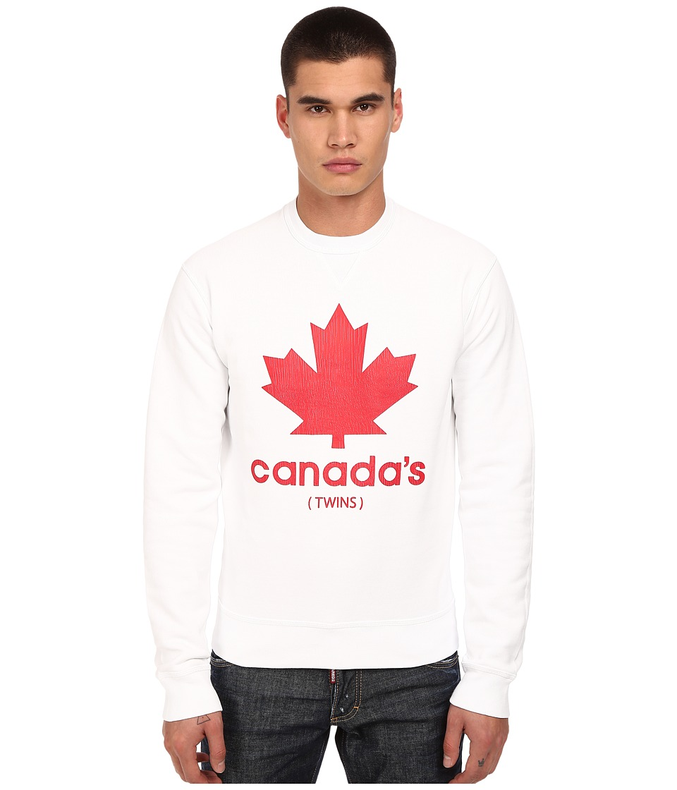 DSQUARED2 - Canada's Twins Sweatshirt (White) Men's Sweatshirt