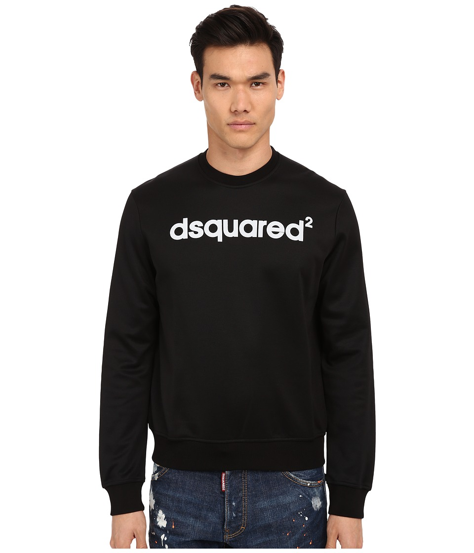 DSQUARED2 - Vintage Logo Sweatshirt (Black) Men's Sweatshirt