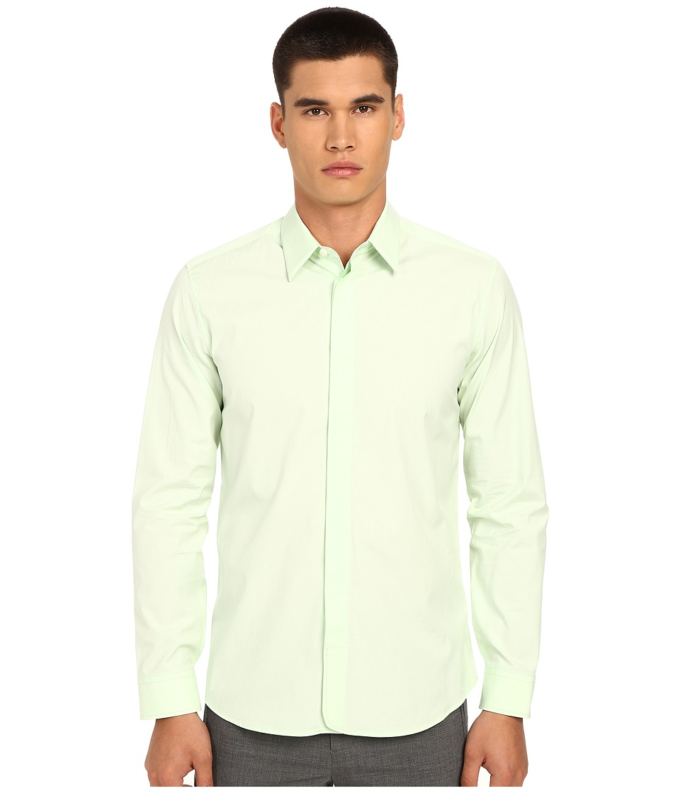 Marc Jacobs - Comfort Slim Poplin Button Up (Mint Green) Men's Long Sleeve Button Up