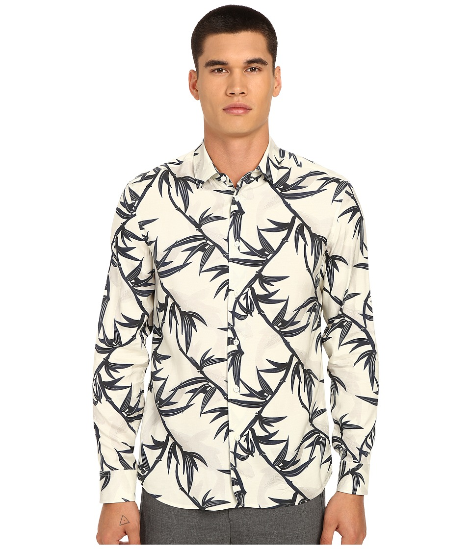 Marc Jacobs - Shadow Leaf Slim Button Up (Off-White Multi) Men's Long Sleeve Button Up