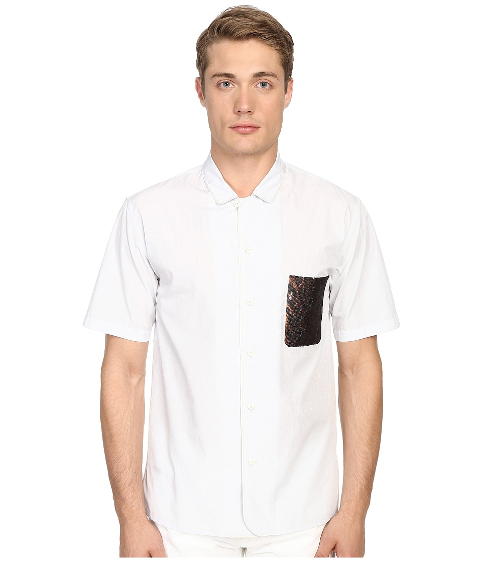Marc Jacobs - Dobby Classic Short Sleeve Button Up (Grey) Men's Short Sleeve Button Up