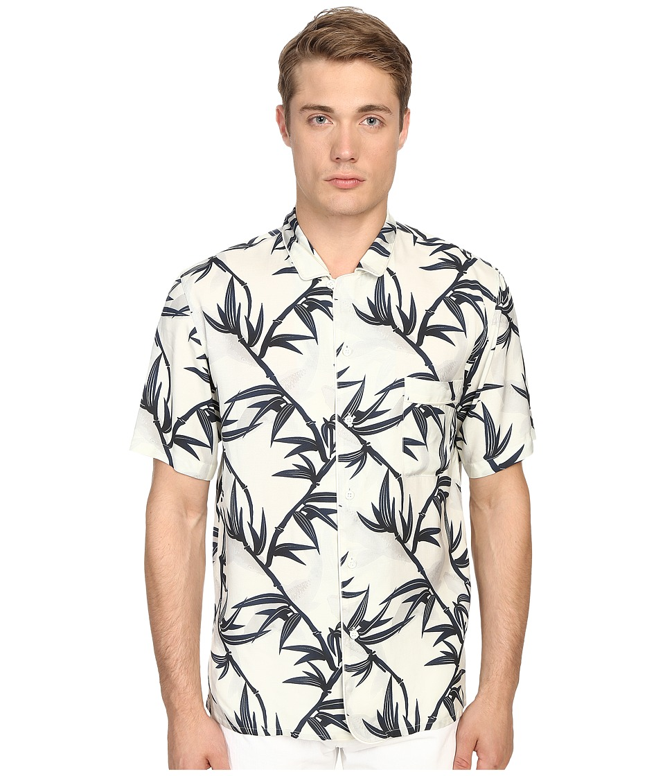 Marc Jacobs Shadow Leaf Classic Short Sleeve Button Up (Off-White Multi) Men