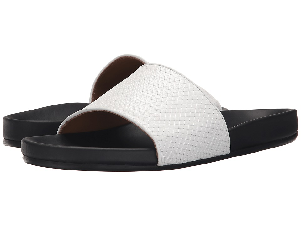 Marc Jacobs Textured Tri Slide Sandal (White) Men