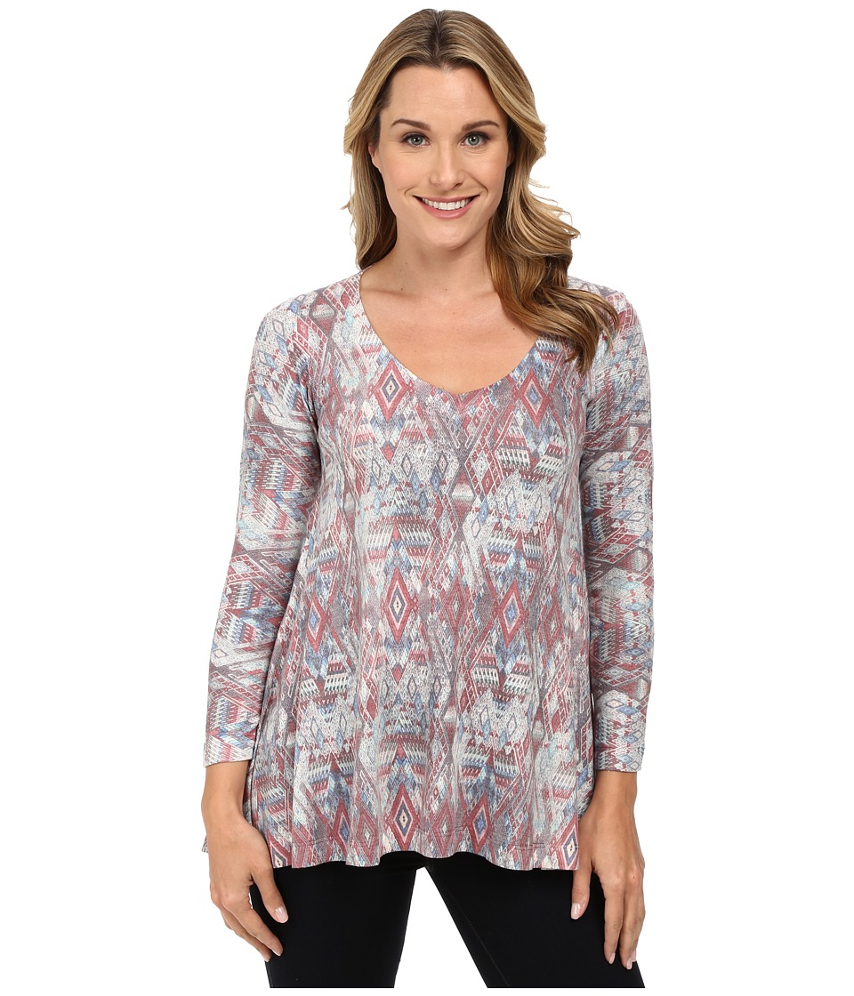 Nally & Millie - Aztec Multi Tunic (Purple) Women's T Shirt