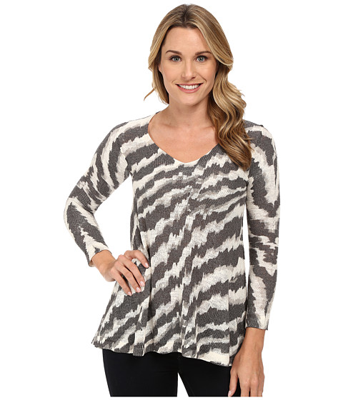 Nally & Millie - Chevron V-Neck Tunic (Multi) Women's Sweater
