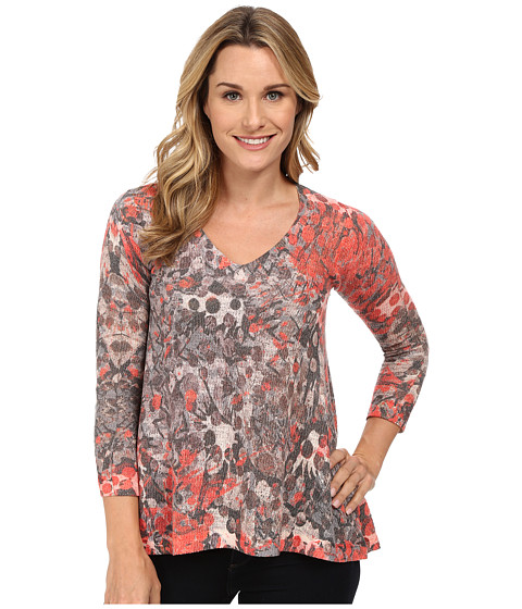 Nally & Millie - V-Neck Tunic (Multi) Women's Sweater