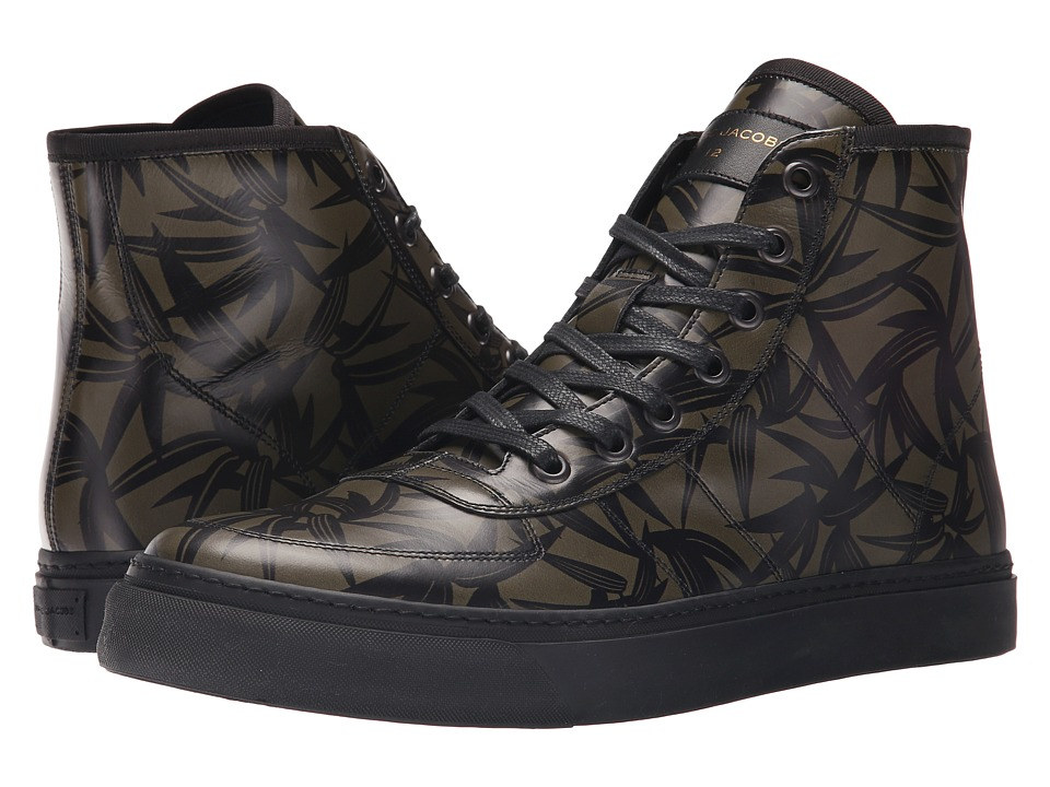 Marc Jacobs - Layered Leaf Hi-Top (Army Multi) Men's Shoes