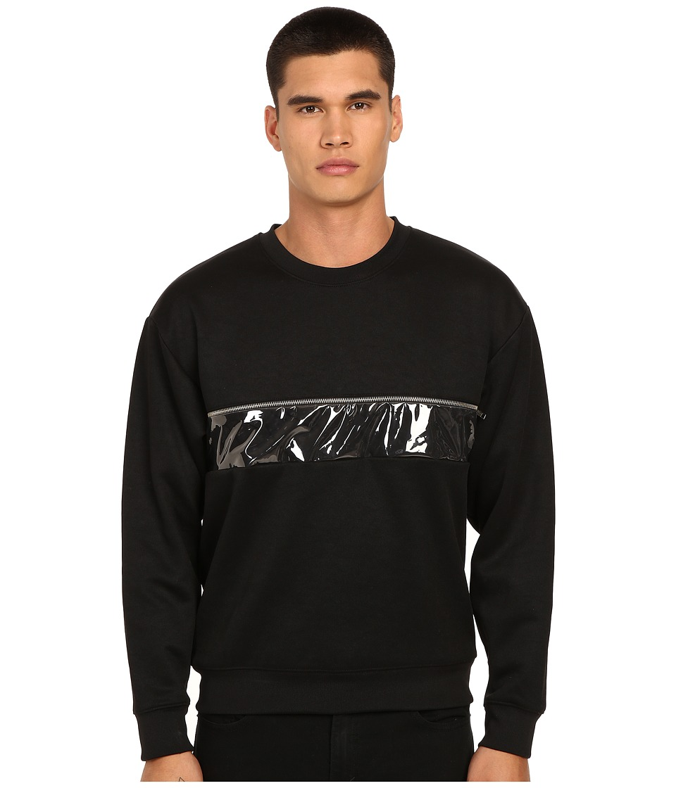 McQ - Zip Oversized Sweatshirt (Darkest Black) Men's Sweatshirt