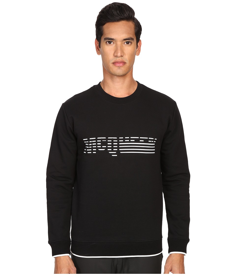 McQ - Degrade Sweatshirt (Darkest Black 1) Men's Sweatshirt