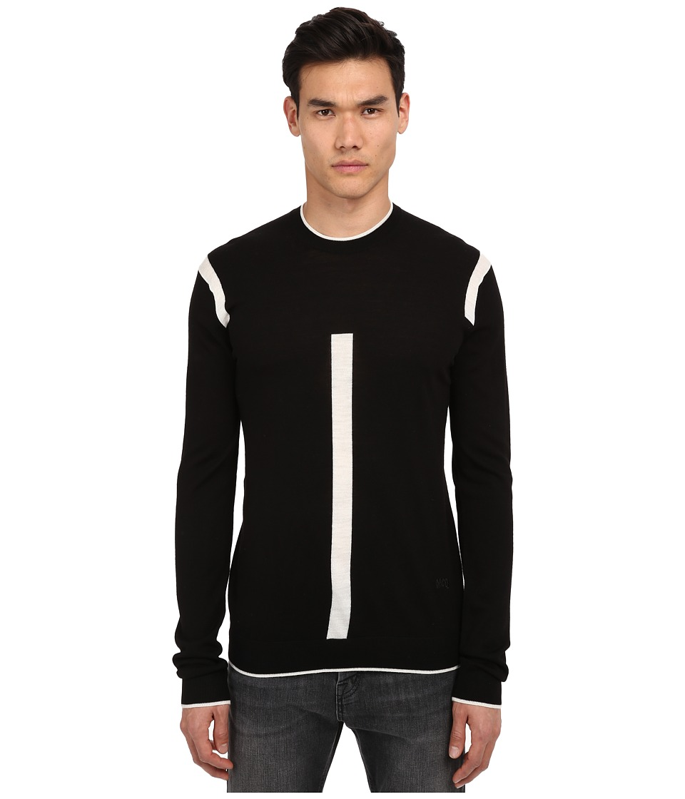 McQ - Colour Tip Crew Neck Tee (Darkest Black) Men's T Shirt