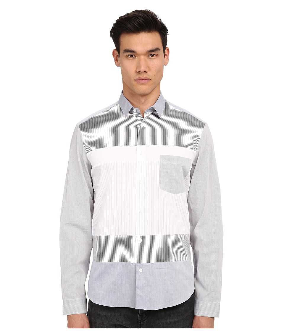 McQ - Recycled Sheehan Shirt (Stripes Mix) Men's Clothing