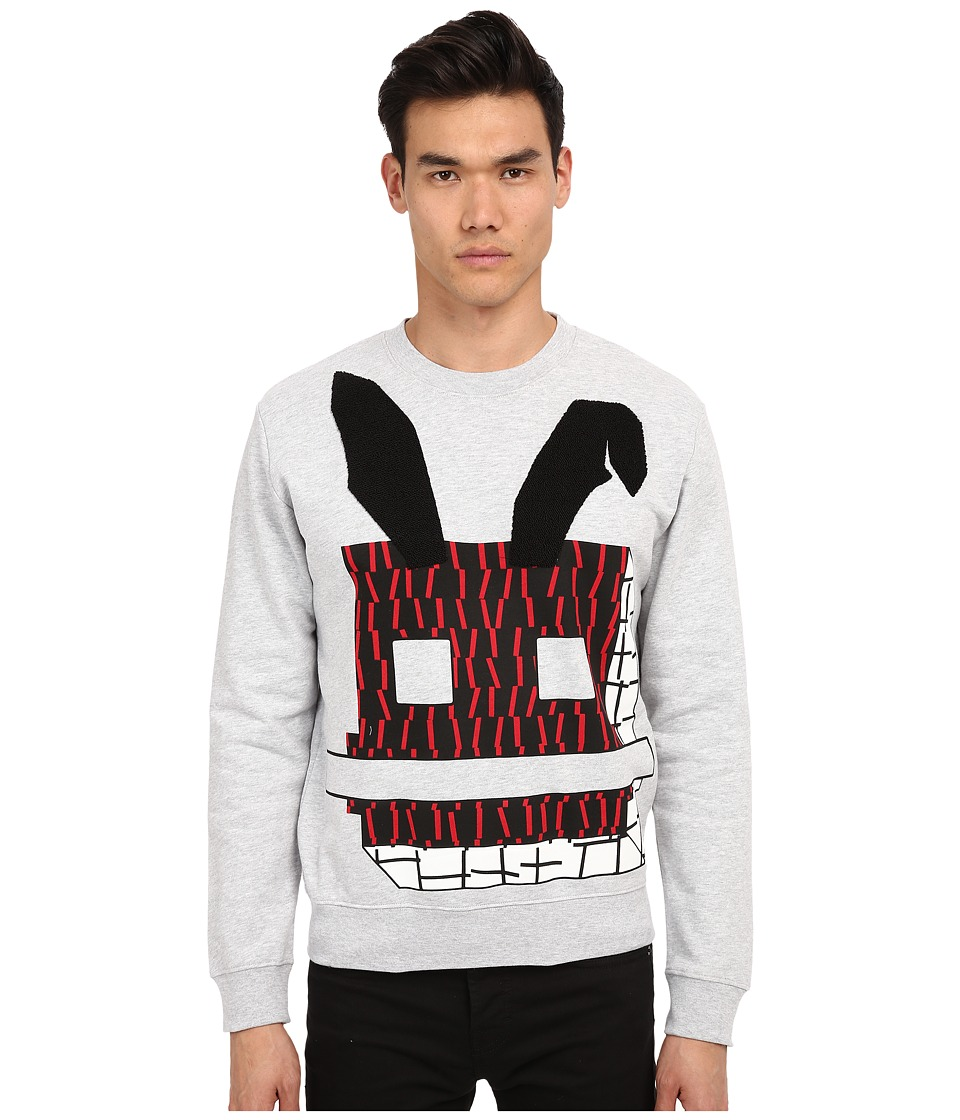 McQ - Degrade Sweatshirt (Steel Grey Melange) Men's Sweatshirt