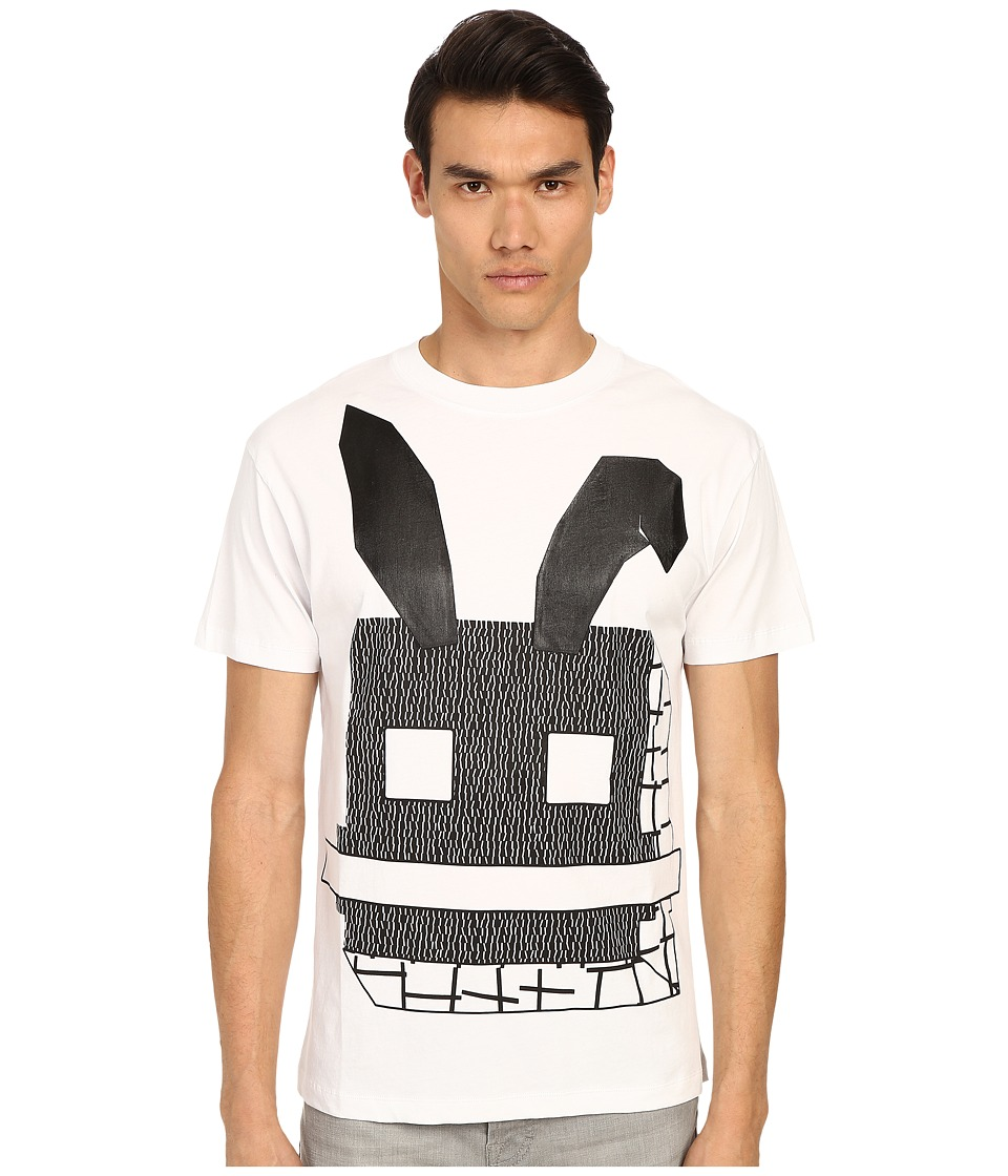 McQ - Gothic Dropped Shoulder Tee (Optic White 1) Men's Short Sleeve Pullover