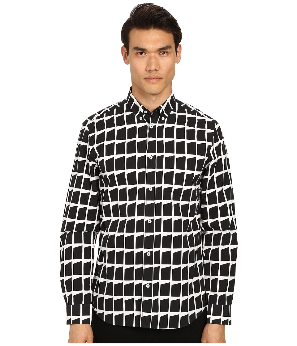 McQ - Shields 04 Shirt (Dark Black Graphic) Men's Long Sleeve Button Up