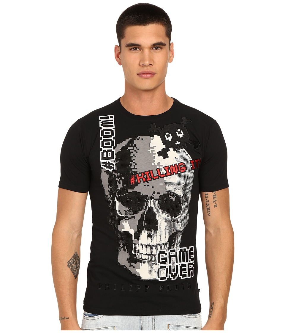 Philipp Plein - Game Over T-Shirt (Black) Men's T Shirt