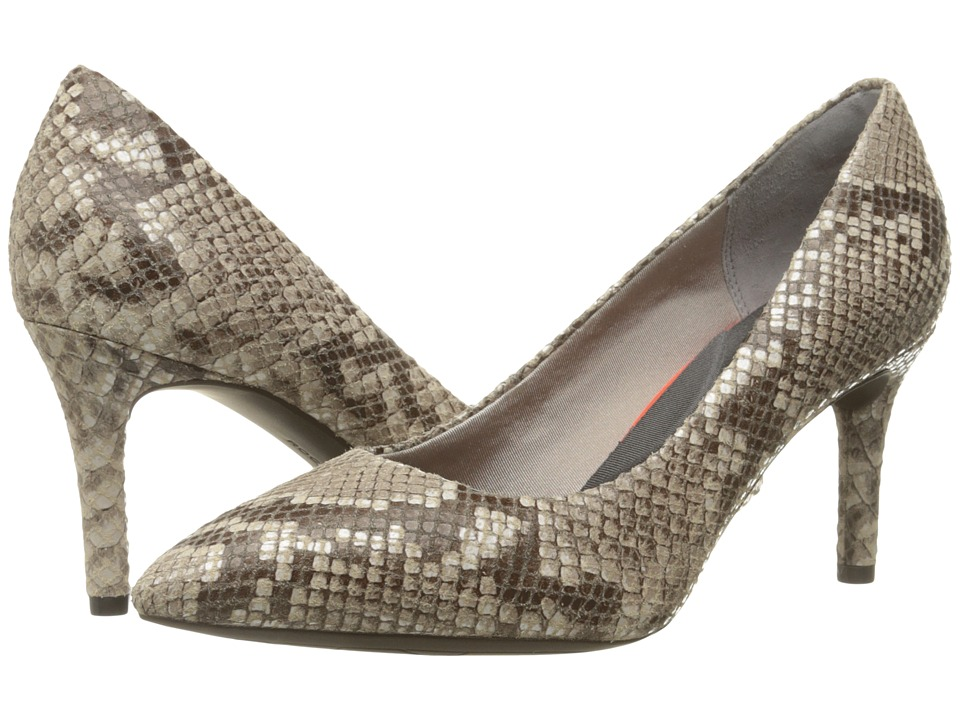 Rockport - Total Motion 75mm Pointy Toe Pump (Roccia Python) High Heels