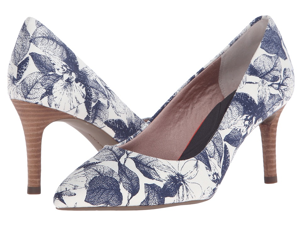 Rockport - Total Motion 75mm Pointy Toe Pump (Blue Floral) High Heels