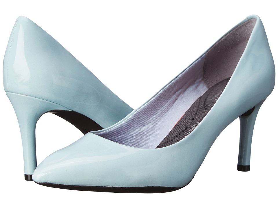 Rockport - Total Motion 75mm Pointy Toe Pump (Icy Blue Patent) High Heels